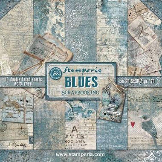 "Kit de Stampería de 30 x 30 cm ""Blues"""