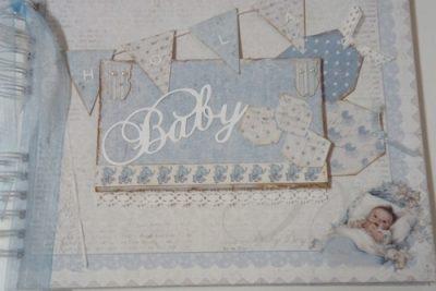 Album de niño con maja design vintage baby y cottage cutz