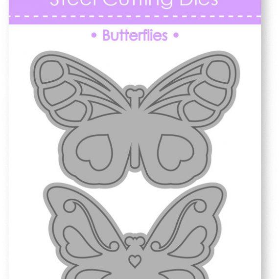 """Troquel """"Butterflies duo"""" de Dovecraft"""