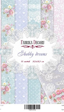 "Kit de papel de 12"" x 12"" ""Shabby dreams"""