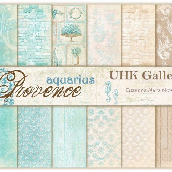 "Kit de 30,5 x 30,5 cm ""Aquarius Provence"" de UHK Gallery"