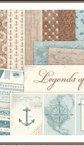 "Kit de 12″ x 12″ ""Legends of the Sea"" de Pion Design"