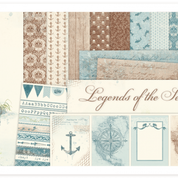 "Kit de 12″ x 12″ ""Legends of the Sea"" de Pion Design"