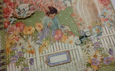 "Album scrap con encuadernación de anillas ""Secret Garden"""