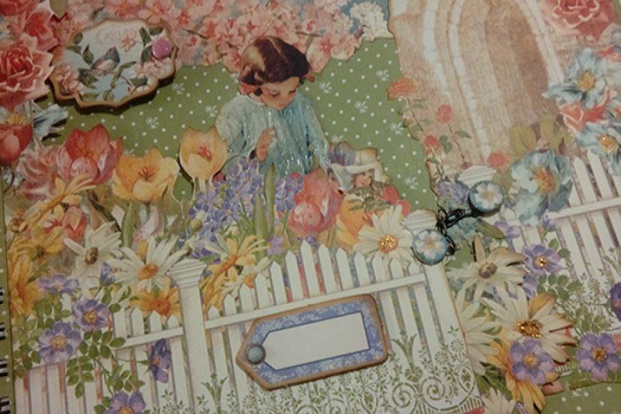 Album scrap con encuadernación de anillas «Secret Garden»