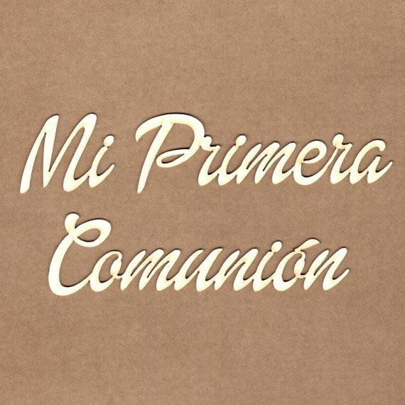 "Chipboard ""Mi primera comunión"" de Kora Projects"