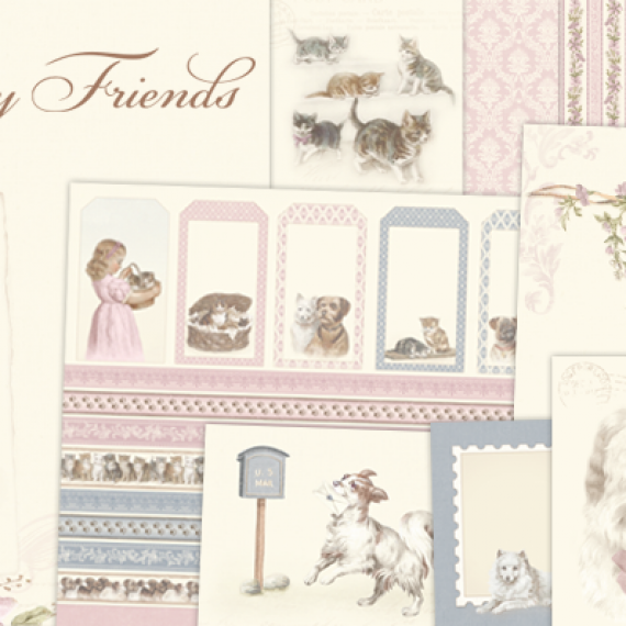 "Kit ""Our Furry Friends"" de 12"" x 12""de Pion Design"