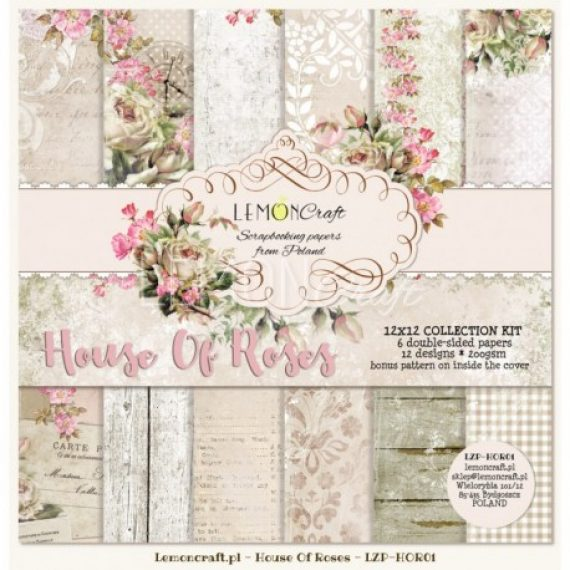 "Kit ""House of Roses""  de 12"" x 12"" de Lemon Craft"