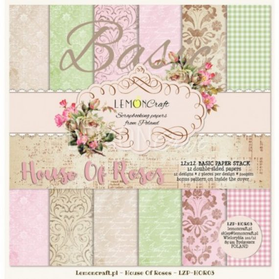 "Kit ""House of Roses basic""  de 12"" x 12"" de Lemon Craft"