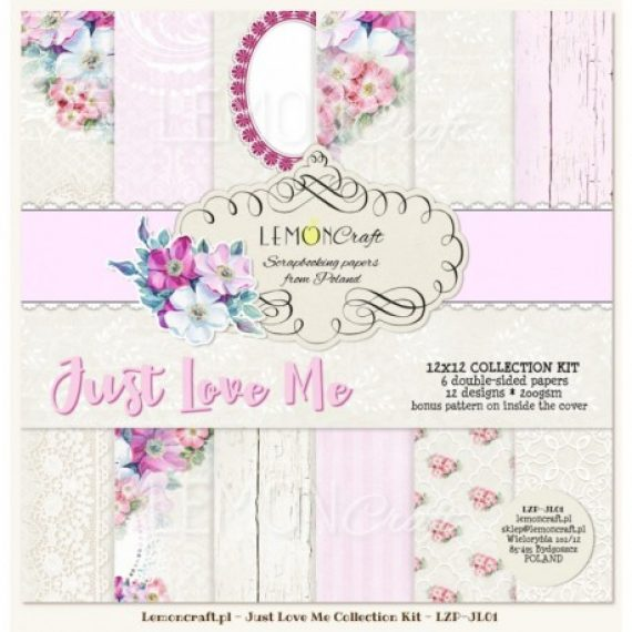 "Kit ""Just Love Me""  de 12"" x 12"" de Lemon Craft"