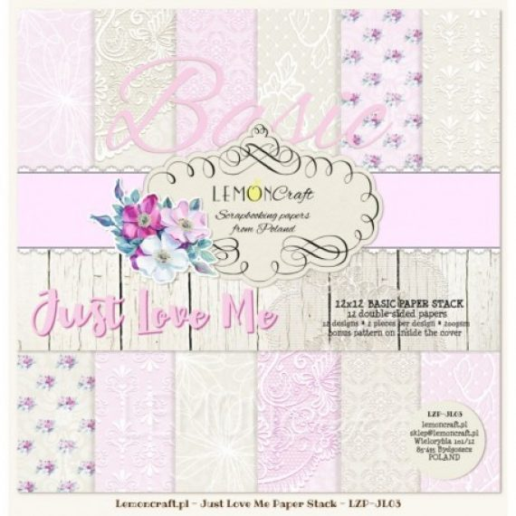 "Kit ""Just Love Me basic""  de 12"" x 12"" de Lemon Craft"