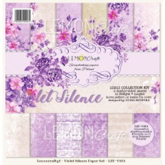 "Kit ""Violet Silence""  de 12"" x 12"" de Lemon Craft"