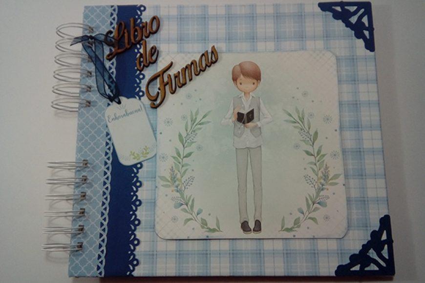 Libro de Firmas de Mi Primera Comunión para niño