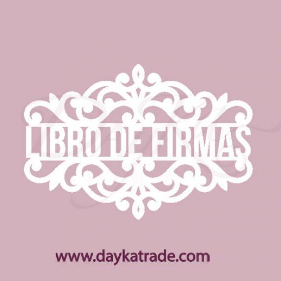 """Chipboard """"Libro de Firmas"""" pequeño de Dayka Trade"""