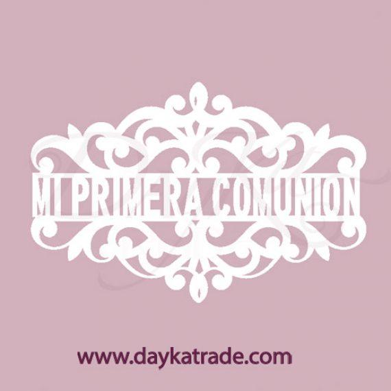 """Chipboard """"Mi Primera Comunión"""" de Dayka Trade"""