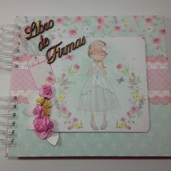 Libro de Firmas de Primera Comunión para niña