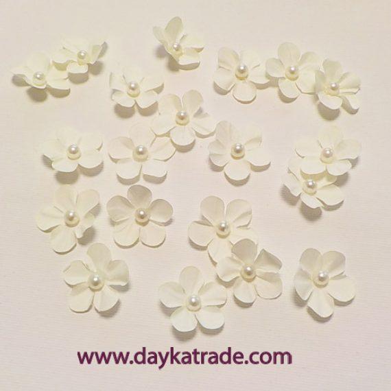 Set Flor Blanca con perlita de Dayka Trade