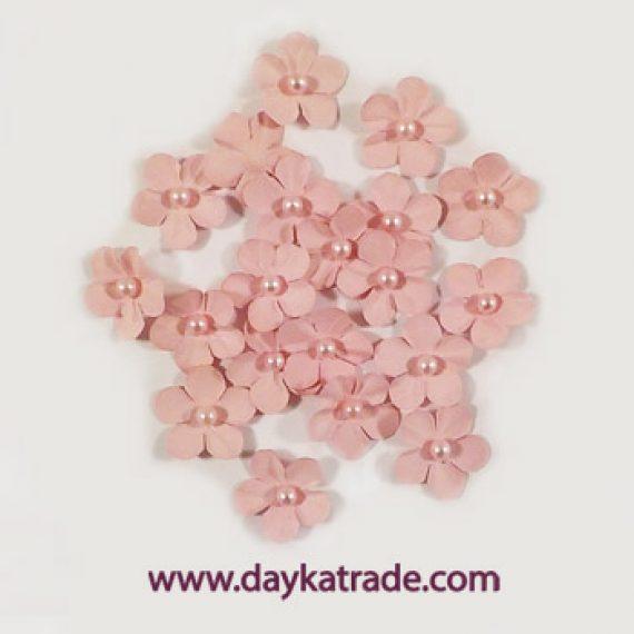 "Set flores ""rosa bebé"" con perlita de Dayka Trade"