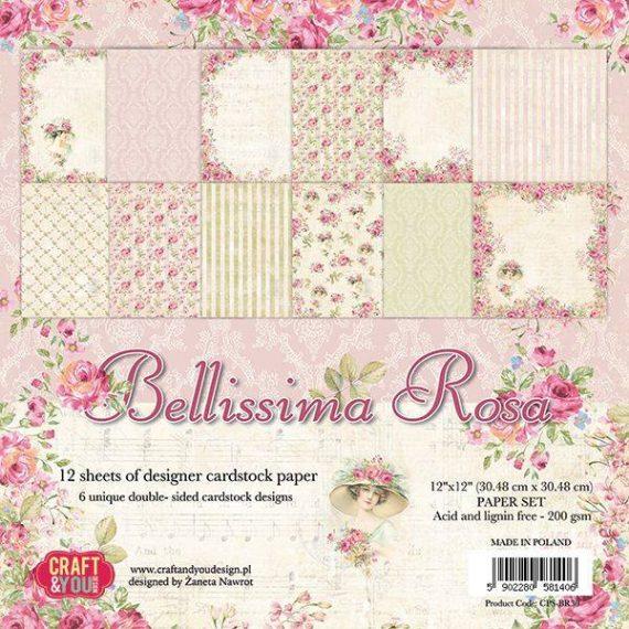 "Kit de 12"" x 12""  ""Bellissima Rosa"" de Craft&You"