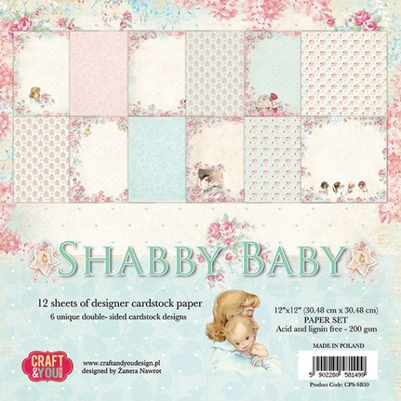 """Kit de 12"""" x 12""""  """"Shabby Baby"""" de Craft&You"""