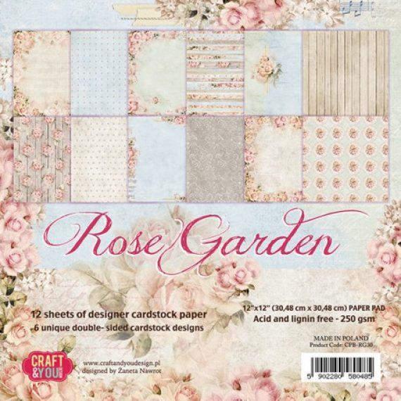 "Kit de 12"" x 12"" ""Rose Garden"" de Craft&You"