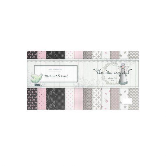 """Kit """"Un Día Especial"""" + """"Papel Niña"""" de Marisa Bernal"""