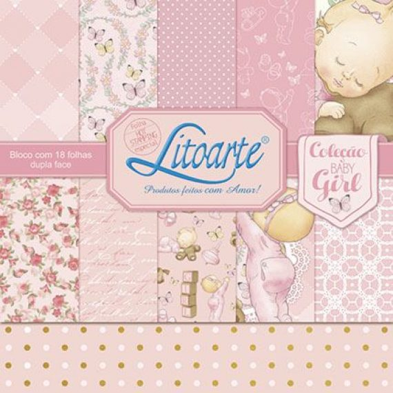 """Kit """"Baby Girl"""" de Litoarte"""