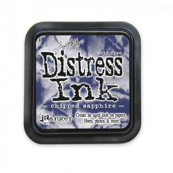 Tinta Distress Ink Chipped Sapphire de Tim Holtz