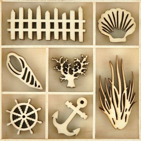 """Set figuras de madera """"playa"""" de Kaisercraft"""