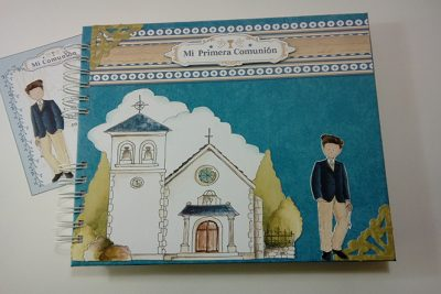 Libro de Firmas y álbum de Mi Primera Comunión para niño