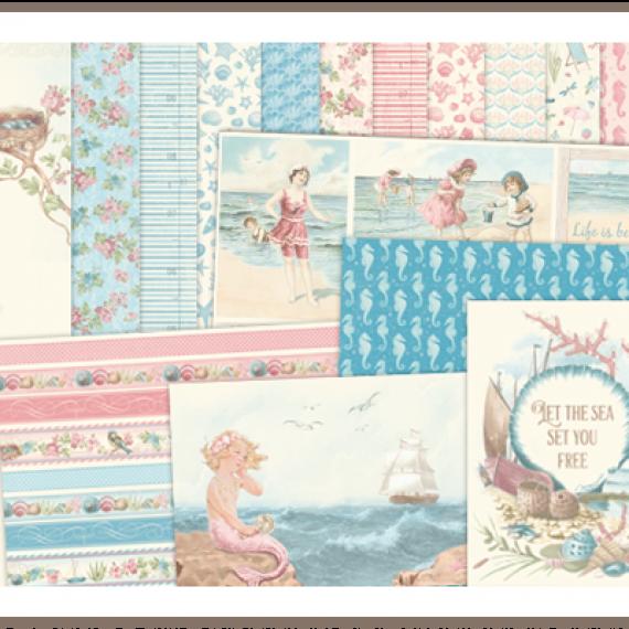 """Kit """"Seaside Stories"""" de 12"""" x 12"""" de Pion Design"""