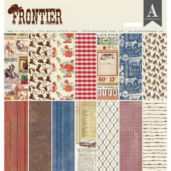 """Kit """"Frontier"""" de Authentique de 12"""" x 12"""""""