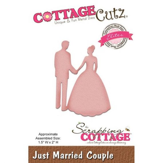 "Die cut ""Just Married"" de Cottage Cutz"
