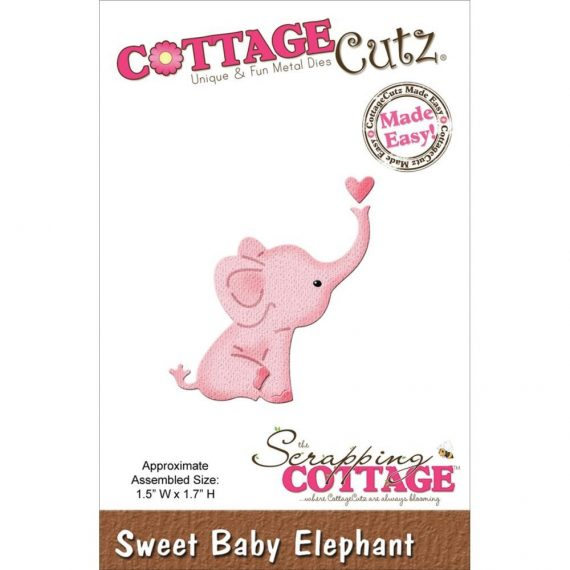 "Die cut ""Sweet Baby Elephant Mini"" de Cottage cutz"