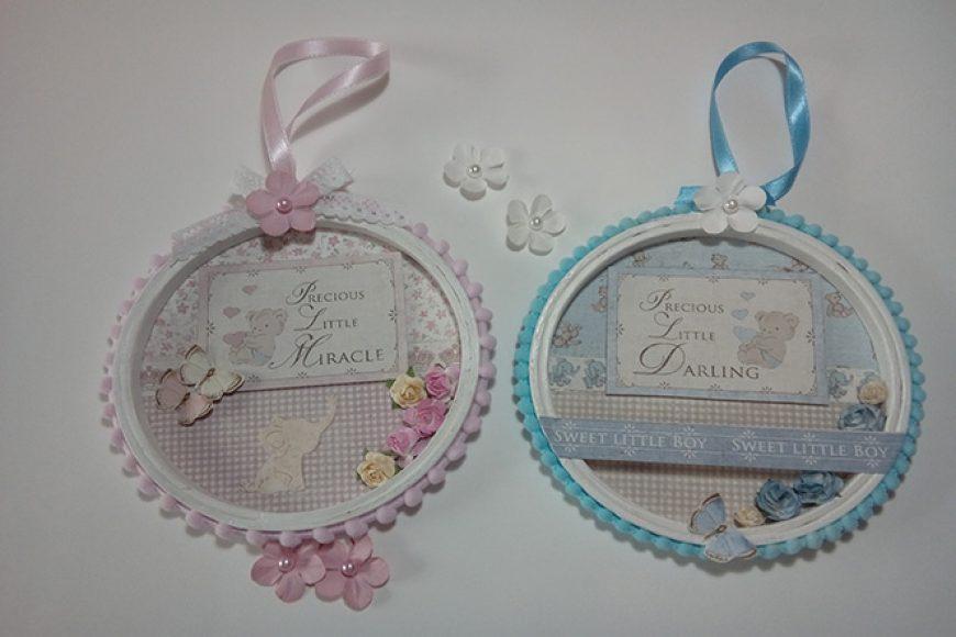 Bastidores decorados para bebés