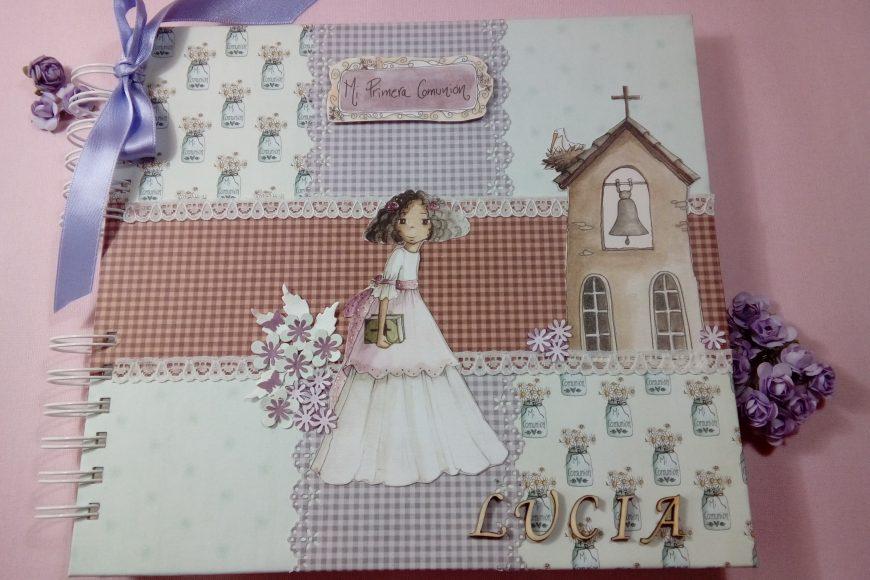 Libro de Firmas de Mi Primera Comunión para Lucía