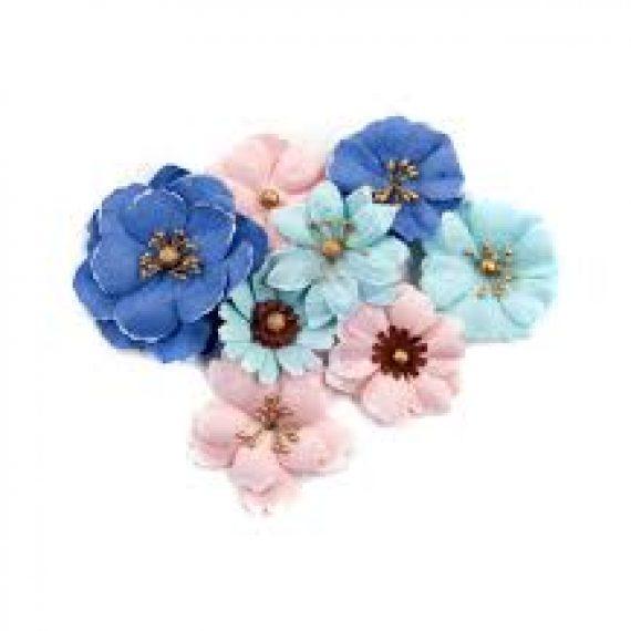 "Set flores de papel ""Golden Coast Ocean Pier"" de Prima Marketing"