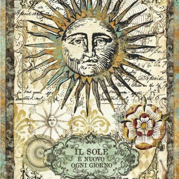 "Papel arroz Din A4 ""Alchemy Sun"" de Stampería"