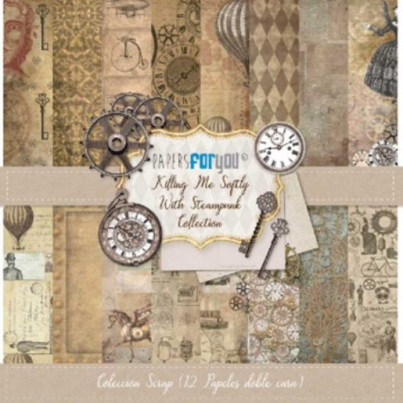 "Colección Scrap ""Killing me Softily with Steampunk"" de Papers for you"
