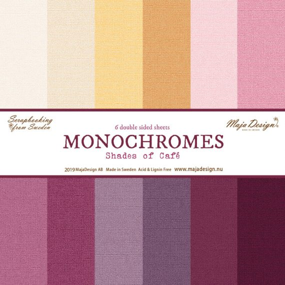 "Monocromos ""Shades of Café"" de Maja Design de 12"" x 12"""