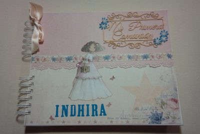 Album Mi Primera Comunión para Indhira