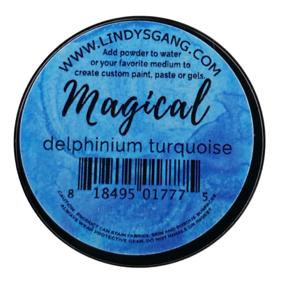 "Lindy's Stamp Gang ""Delphinium Turquoise"" Magical"