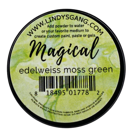 "Lindy's Stamp Gang ""Edelweiss Moss Green"" Magical"