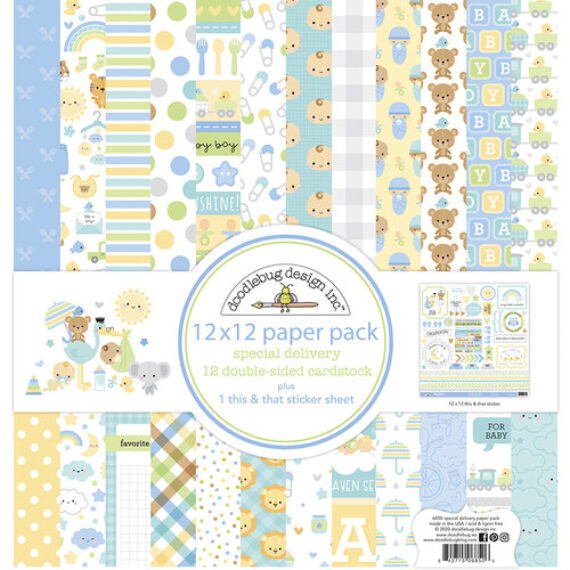 Kit Papeles «special delevery» de Doodlebug