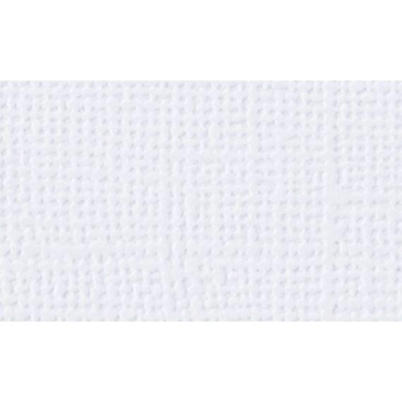 Cartulina textura lienzo «Blanco puro»