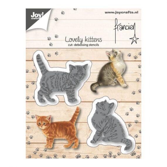 """Troquel """"Two kittens"""" de Joy Crafts"""